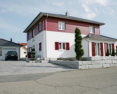 Moderne Fassade, Fassadenanstrich, Fassadengestaltung