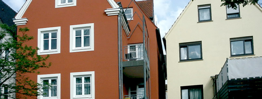 Farbgestaltung, Fassadenanstrich