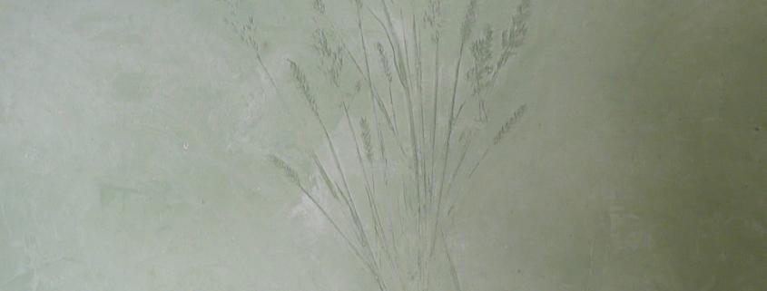 Prägetechnik, italienischer Kalkputz, Volimea, Wandgestaltung, Kreativtechnik