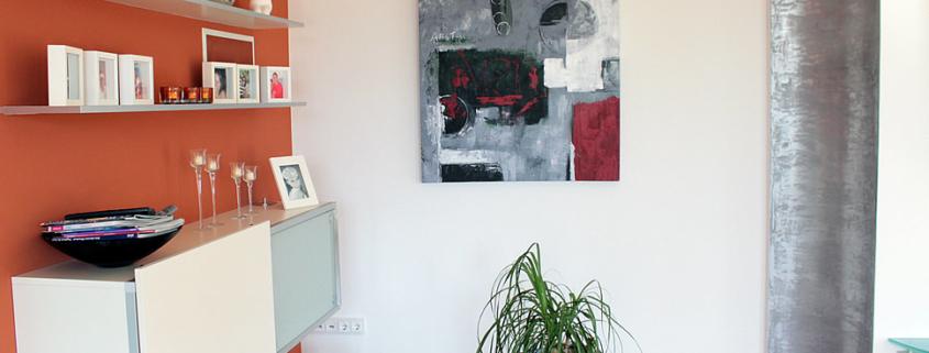 Innenraumgestaltung, Wohnraumgestaltung, Spachteltechnik, Dracholin, Farbgestaltung