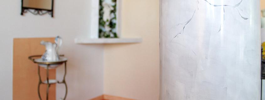 Deckengestaltung, Ausstellung, Lichtdecke, Stuckgesims, Spanndecke, Stuckgips, Säulen